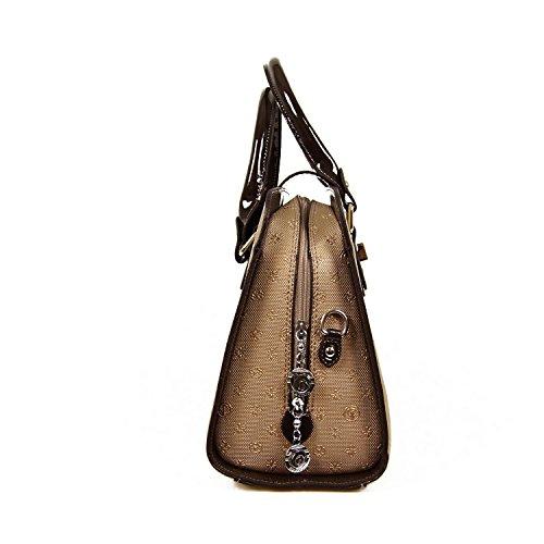 Damentasche Handtasche Tasche Abend Luxus Taymir Detailprägung Elegant versch. Farben Gold-Braun
