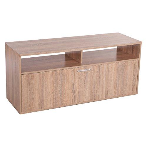 HOMCOM 120cm TV Stand Home Entertainment Center Wooden Storage Unit Console Living Room Furniture w/Drawer - Oak