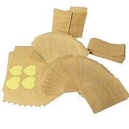 100pcs Sacchetto di Carta Kraft Mini Busta Piccoli per Semi Confetti Caramella Dolci Matrimonio Regalo Gioielli Busta…