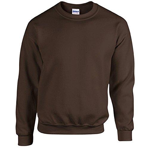 Gildan Heavy Blend Erwachsenen Crewneck Sweatshirt 18000 S, Dark Chocolate (Für Sweatshirts Braun Männer)