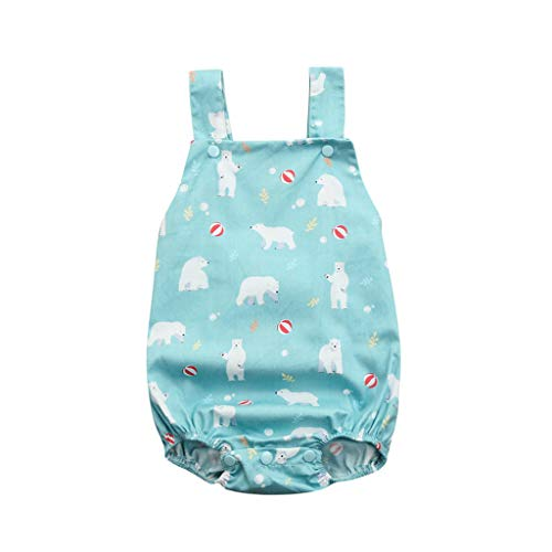 TICOOK Baby-Strampler für Jungen und Mädchen, ärmellos, mit Bärenmotiv, rückenfrei Gr. M, - Baby Jungen Socke Affe Kostüm