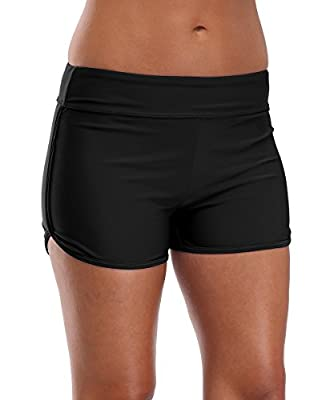 Charmleaks Womens Sports Swim Shorts Boyleg Board Shorts Beach Bikini Tankini Bottoms Swimwear Swimsuits