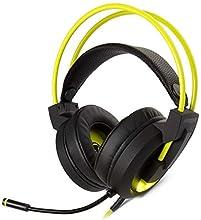 snakebyte PC HEADSET PRO - 7.1 Virtual Surround Sound, écouteurs eSports avec suppression du bruit, contrôle de la sourdine / du volume et de l'amplification des basses sur le câble, éclairage LED