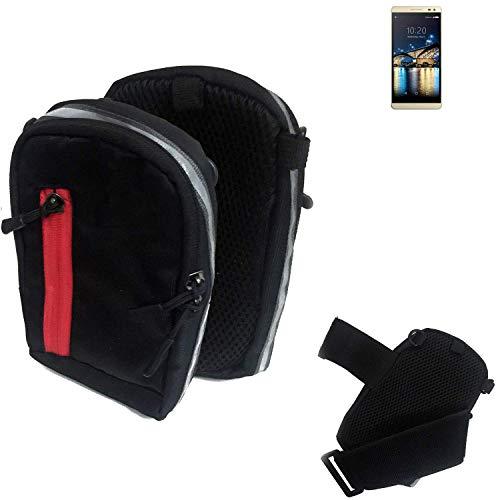 K-S-Trade Outdoor Gürteltasche Umhängetasche für Switel Champ S5003D schwarz Handytasche Case travelbag Schutzhülle Handyhülle