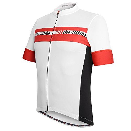 zero rh++ Herren Fahrradtriko Academy Jersey FZ, White/Red, XXL, ECU03060032XL
