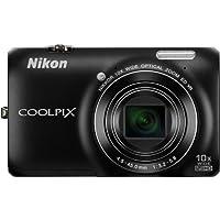 Nikon Coolpix S6300 Digitalkamera (16 Megapixel, 10-fach opt. Zoom, 6,7 cm (2,7 Zoll) Display, bildstabilisiert) schwarz