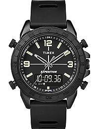 52f9b91060fe Timex Reloj Analógico-Digital para Hombre de Cuarzo con Correa en Silicona  TW4B17000