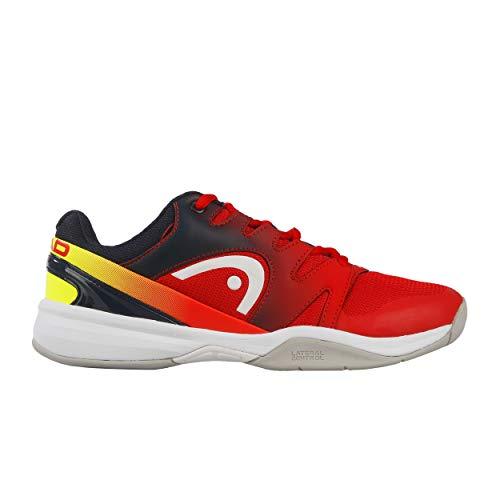 HEAD Jungen Tennisschuhe Indoor Sprint 2.0 Junior rot (500) 35 (Kinder Tennis Schuhe Jungen)