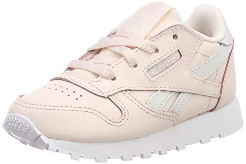 Reebok Mädchen Classic Leather Gymnastikschuhe, Pink (Pale Pink/White), 23.5 EU - Reebok Lauflernschuhe