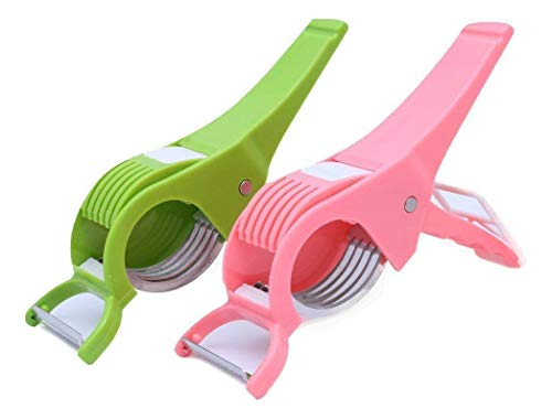 ShopToShop Vegetable Cutter with Peeler, Set of 2, Multicolour