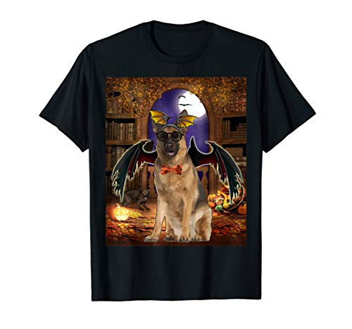 an Shepherd Dog Funny Dog Devil witches T-Shirt ()