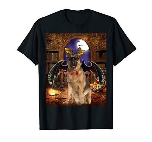 Devil Dog Schwarz T-shirt (Happy Halloween German Shepherd Dog Funny Dog Devil witches T-Shirt)