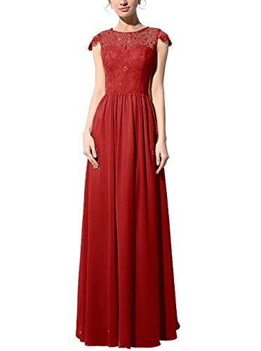 Find Dress Robe de Bal Longue Princesse Robe de Cérémonie Femme pour Mariage Style Elégant Anniversaire Gala Gown Taille Personnaliser en Mousseline red