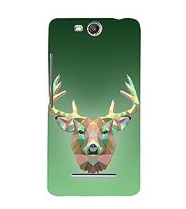 Graphic 3D Deer 3D Hard Polycarbonate Designer Back Case Cover for Micromax Canvas Juice 3+ Q394 :: Micromax Canvas Juice 3Plus Q394