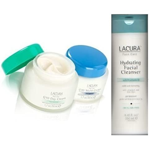 Lacura Day and Night Face Cream Q10 Anti-Wrinkle with Hydrating Facial Cleanser Combo Pack by ppmarket