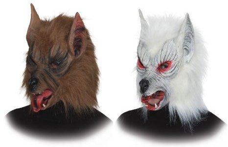 Werwolf Maske zum Wolf Kostüm an Halloween Karneval Fasching (Erwachsene Braun Kostüme Werwolf)