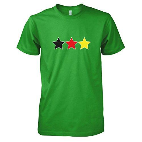 TEXLAB - Deutschland Sterne - Herren T-Shirt Grün