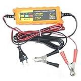 DKB 6-12V /4-120Ah Batterieladegerät Vollautomatisches 5-Schritt Batterie Ladegerät Erhaltungsgerät Erhaltungsladegerät Batterietrainer für KFZ PKW Auto Motorrad.