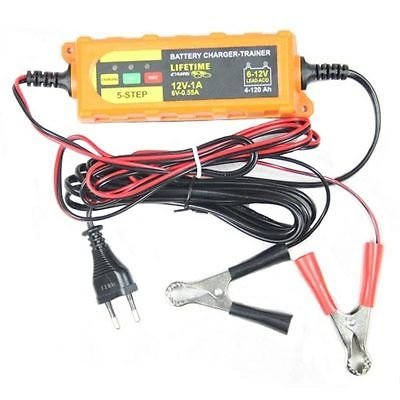 DKB 6-12V /4-120Ah Batterieladegerät Vollautomatisches 5-Schritt Batterie Ladegerät Erhaltungsgerät Erhaltungsladegerät Batterietrainer für KFZ PKW Auto (Pkw Batterieladegerät)