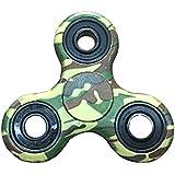 Crisant El plástico Tri Fidget Hand Spinner Toys,Personalidad Vistoso Alta velocidad Reductor de ADHD EDC Juguetes Para Adultos O Niños (Camuflaje)