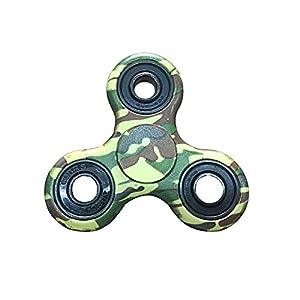 Crisant Tri Fidget Hand Spinner Toy,Personnalité Coloré Haute vitesse ADHD Réducteur EDC Jouets Pour Adultes Enfant (Camouflage)
