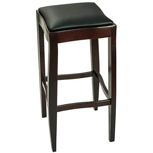 Barhocker President, 36.5x36.5x76cm (BxTxH), Sitz schwarz, Gestell nussbaum, 2 Stück/Packung - Vega-barhocker
