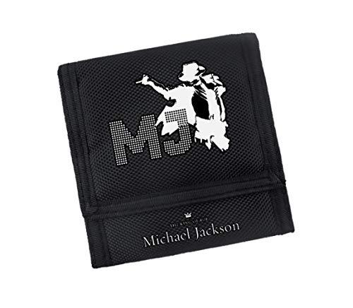 Brieftasche Jackson Musik Dreifach Gefaltete Anime Oxford Tuch Brieftasche Klett Cartoon Brieftaschen Kreditkarteninhaber Münzfach Geldbörse, A
