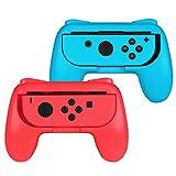 Fintie Grip für Nintendo Switch Joy-Con - [2er-Pack] [Ergonomisches Design] Verschleißfeste Komfort Griff Kit Griffhalter für Nintendo Switch Konsole Joy-con Controller (Rot / Blau)