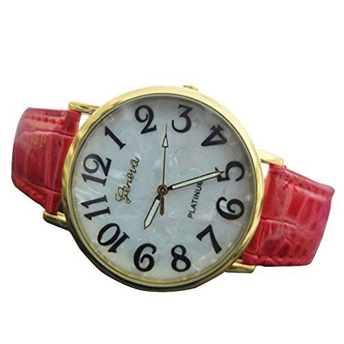 geneve-sangle-montre-en-cuir-pour-homme-et-femme-unisexe-rouge