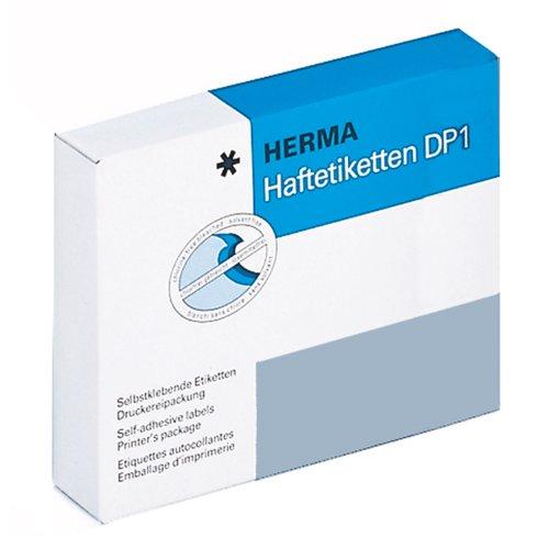 Herma 2725 Haftetiketten (für Druckmaschinen DP1, Ø 13 mm rund Papier matt) 10000 Stück grün