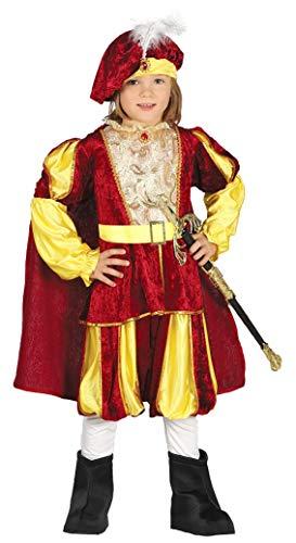 Prinz Kostüm Kind - mittelalterlicher Märchen Prinz Karneval Motto Party Kostüm für Kinder Gr. 98 - 128, Größe:98/104