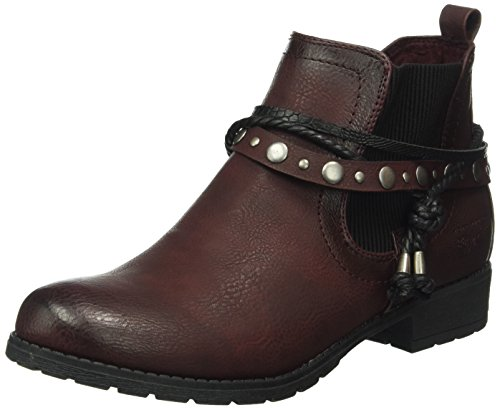 Tom Tailor Damen 1697301 Kurzschaft Stiefel, Rot (Bordo), 40 EU