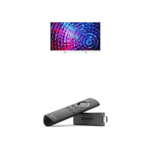 Philips 32PFT5603/05 32-Inch Full HD LED TV and Fire TV Stick with Alexa Voice Remote