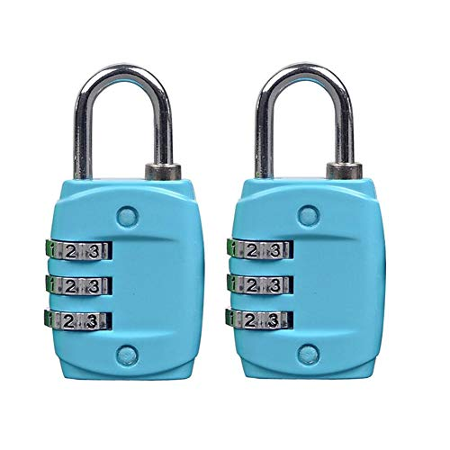 MuMa Vorhängeschloss Aluminiumlegierung Mini Passwort Kabinett Koffer Aufenthalt Haus Turnhalle Diebstahlsicherung Farbe Optional (Farbe : Blau)
