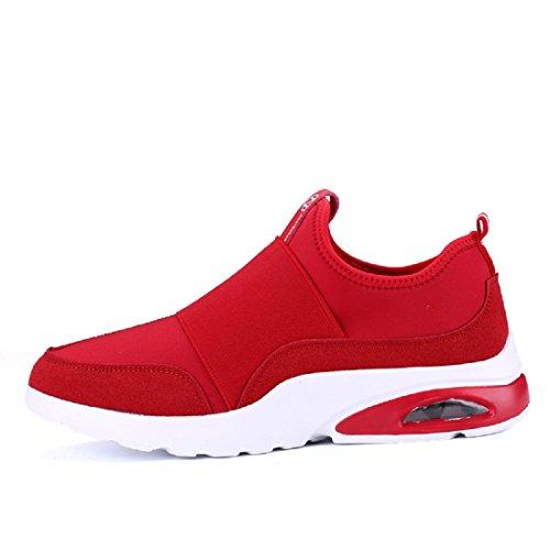 Hommes Chaussures de sport Entraînement Respirant élasticité Chaussures décontractées Chaussures paresseuses Red
