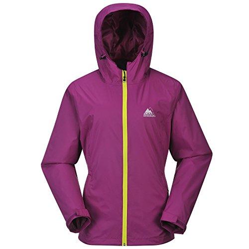 Cox Swain Damen Outdoor Funktions Regenjacke Breaker 8.000mm Wassersäule + 5.000mm atmungsaktiv, Colour: Purple/Yellow Zipper, Size: XS