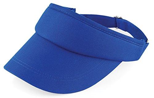 Sonnenblende von Beechfield für Sport-Aktivitäten; für Erwachsene, Gruppen, Damen und Herren Gr. Einheitsgröße, Helles Königsblau
