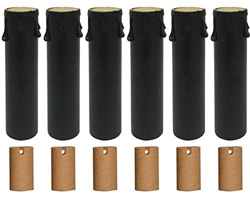 fassungen für Kronleuchter, Papierisolierung 6 Pack schwarz ()
