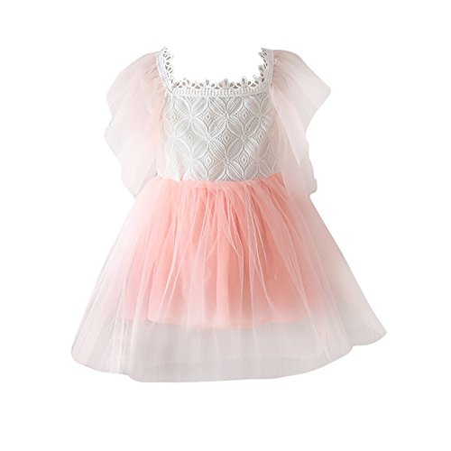 ❤️LILICAT Belle belle soleil rouge Enfants Kid Filles Patchwork Dentelle  Fil Net Princesse Robe Dos 29d375c0e1fb