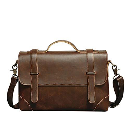 Aktentasche Vintage Herren Business Handtasche Umhängetaschen Pu