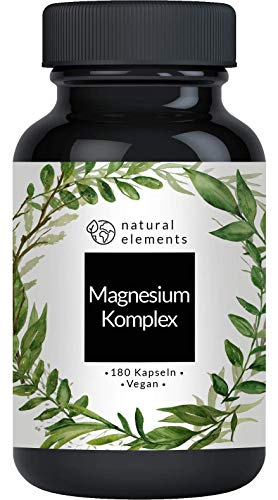 Magnesium Komplex - Premium: Aus 5 hochwertigen Verbindungen - 400mg elementares Magnesium pro Tagesdosis - Laborgeprüft, vegan, hochdosiert und hergestellt in Deutschland