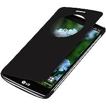 kwmobile Funda para LG G3 - Case estilo libro de cuero sintético con ventanilla - Flip Cover plegable negro