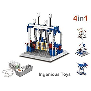 educational construction set (4 in 1) - power function machinery motorized mechanisms #1404