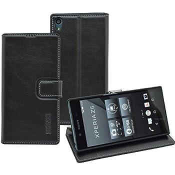 Sony Xperia Z5 - Suncase Book-Style Ledertasche Leder