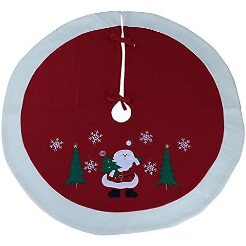 Wewill Marca Albero di Natale gonna Cerchio Decorazione festiva Babbo Scena del pupazzo di neve Albero Gonna - Vetro Abbellimenti