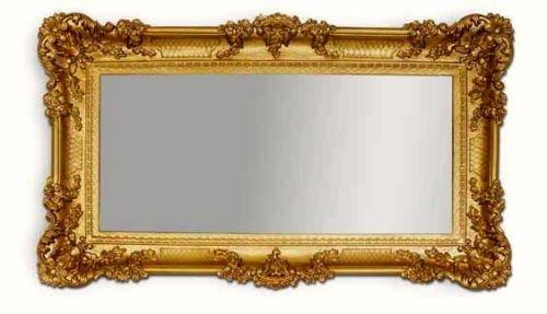 Lnxp WANDSPIEGEL BAROCKSPIEGEL Spiegel in Gold 96x57 Antik Barock Rokoko Shabby Chic Renaissance...