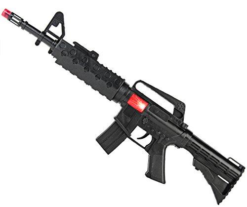 Kinder Spielzeug Ratter Gewehr mit Blitz und Sound 44 cm