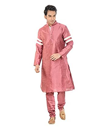 Deyann Mens Dupion Regular Fit Kurta and Pyjama Set185