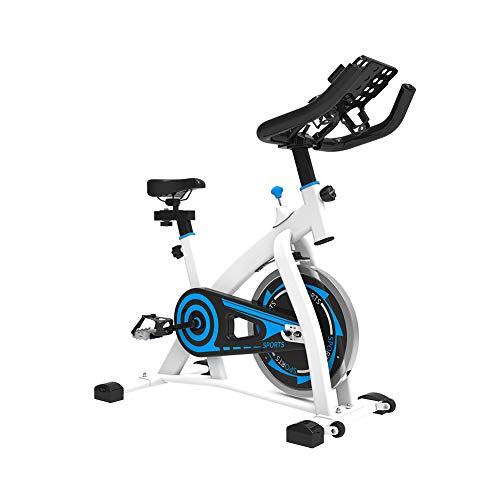 Heimtrainer Fahrrad für Zuhause,Indoor Cycle Komfortsattel Elektromagnetisch Spinning Fahrrad Intelligente APP Steuerung,Ergometer Fahrrad Verstellbarer Widerstand Mit Multifunktionshalterung,White