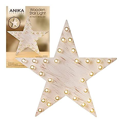 Anika 89990 Battery Operated Star Wall or Free Standing LED